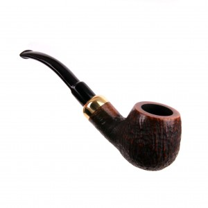 Fajka no.124 Bent Army Briar Piaskowana Limited Mr Bróg